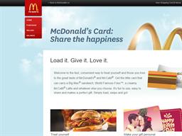 McDonald's Card gift card purchase