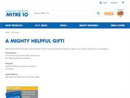 Mitre 10 gift card purchase