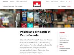 Petro Canada gift card balance check