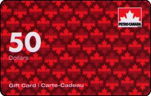 Petro Canada gift card design and art work