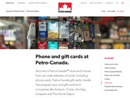 Petro Canada gift card purchase