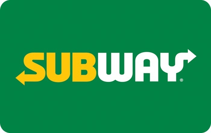 Subway gift card design and art work