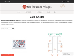 Ten Thousand Villages gift card purchase