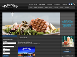 The Boathouse Restaurant gift card purchase
