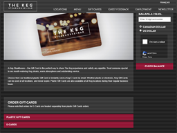 The Keg Steakhouse gift card purchase