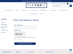 Tip Top Tailors gift card purchase