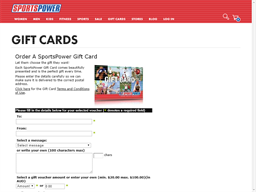 SportsPower gift card purchase