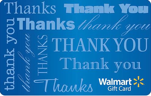 Walmart Digital gift card design and art work