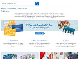Walmart gift card purchase