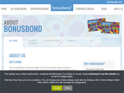 Bonusbond gift card purchase