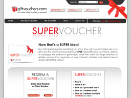 Super Voucher gift card purchase