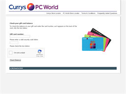 Currys gift card balance check