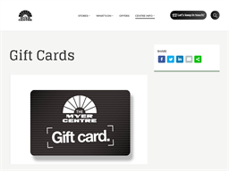 The Myer Centre Brisbane gift card purchase