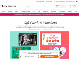 Debenhams Gift Card gift card purchase