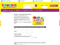 Toyworld gift card purchase