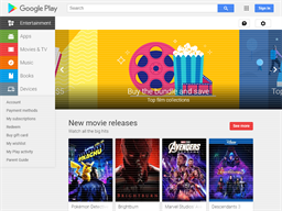 Google Play shopping