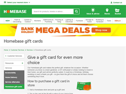 Homebase gift card purchase
