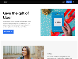UBER gift card purchase
