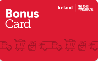 Iceland Foods gift card design and art work
