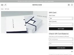 Veronika Maine gift card balance check