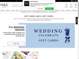 Marks & Spencer gift card balance check