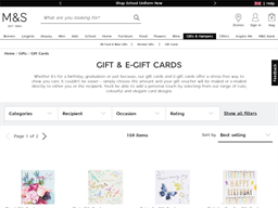 Marks & Spencer gift card purchase