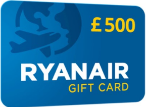 Ryanair gift card design and art work
