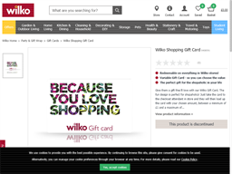 Wilko gift card purchase