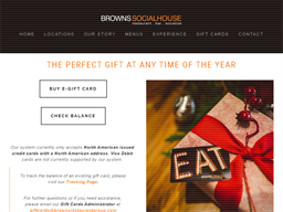 Browns Social House gift card purchase