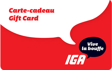 IGA gift card design and art work