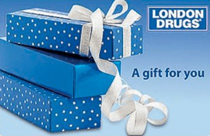 London Drugs gift card design and art work
