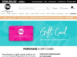 The Shopping Channel gift card balance check