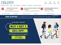 The Shoe Company gift card balance check