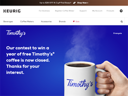 Timothy's Coffee gift card purchase