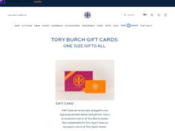 Tory Burch gift card balance check