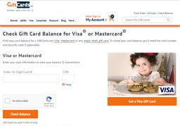 Visa Gift Card GiftCards.Com gift card balance check