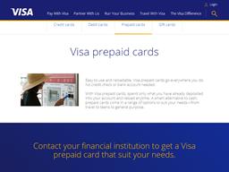 Visa Prepaid Card shopping