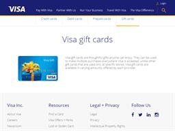 Visa Gift Card gift card purchase