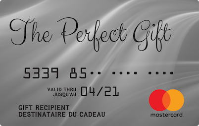 The Perfect Gift Master gift card design and art work