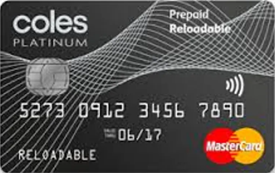 Coles Reloadable Mastercard gift card design and art work