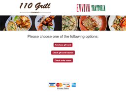 110 Grill gift card purchase