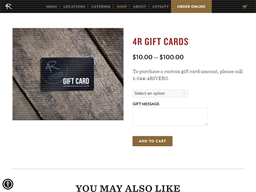 4 Rivers Smokehouse gift card purchase