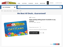 ABC Warehouse gift card purchase