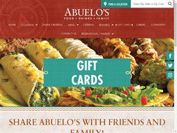 Abuelo's gift card purchase