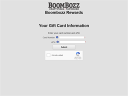 BoomBozz Craft Pizza & Taphouse gift card balance check