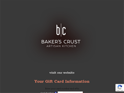 Baker's Crust Artisan Kitchen gift card balance check