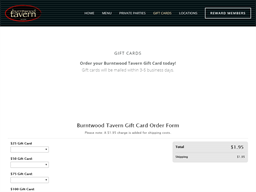 Burntwood Tavern gift card purchase