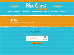Blue Coast Burrito gift card balance check