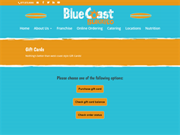 Blue Coast Burrito gift card purchase