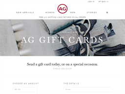 AG Jeans gift card purchase